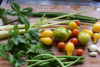 Scheermessen, ensis of zwaardscheden met groentjes in roomsaus 4