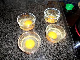 Thermomixrecept: borrelglaasje met bloemkoolroom en spekjes. 2