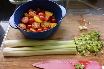 Vegetarische quiche van filodeeg met prei en tomaatjes 3