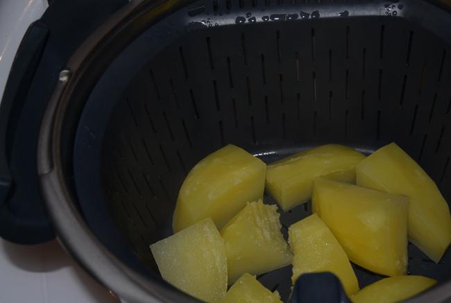 Aardappelen stomen in de thermomix 1