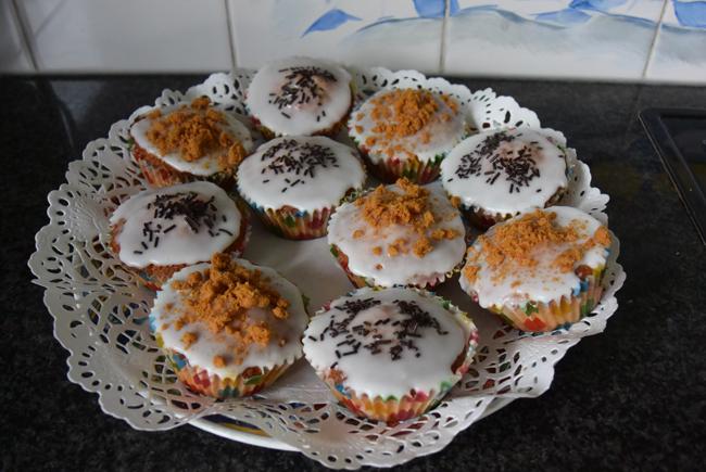Cupcakes  met chocopasta of speculaaspasta 1