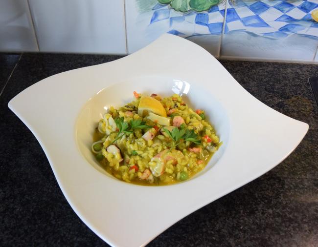 Eenvoudige risotto met zeevruchten 1
