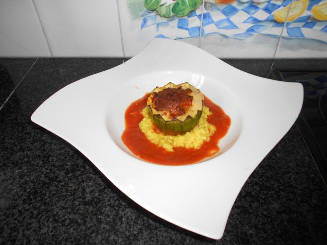 Gevulde, ronde courgettes met quinoa of rijst 1