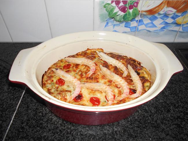 Lasagne met andijvie en grote garnalen of scampi 1