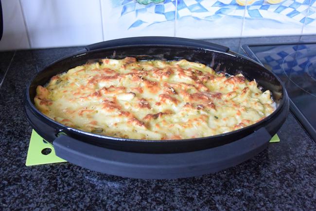 Ovenschotel: pasta met groenten en kalkoenblokjes 1