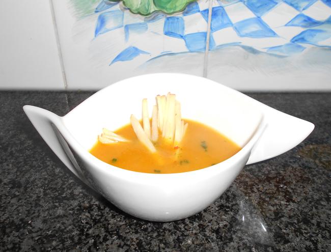 Pompoensoep met appel en kerrie 1