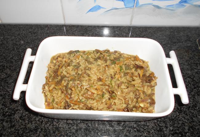 Vegetarische risotto met paddenstoelen 1