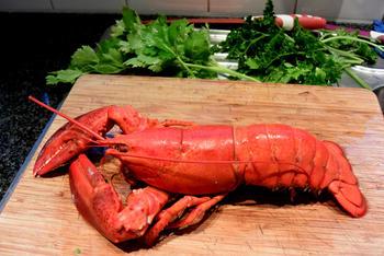 Bisque de homard met stukjes kreeft 2