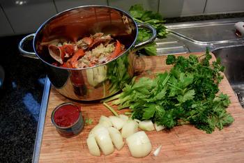 Bisque de homard met stukjes kreeft 6