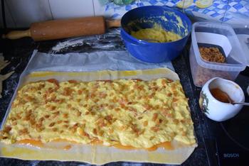 Brioche van bladerdeeg pudding en rozijnen 3