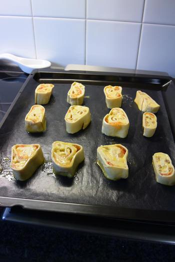 Brioche van bladerdeeg pudding en rozijnen 5