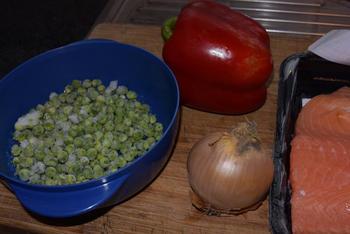 Gegratineerde visschotel met veel groenten 2