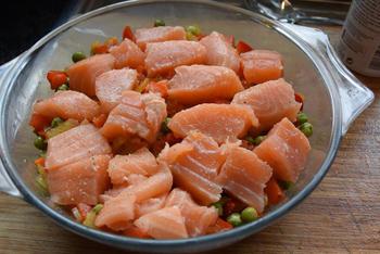 Gegratineerde visschotel met veel groenten 7