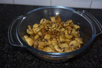 Gegrilde courgette, aardappel en biefstuk met champignons 3