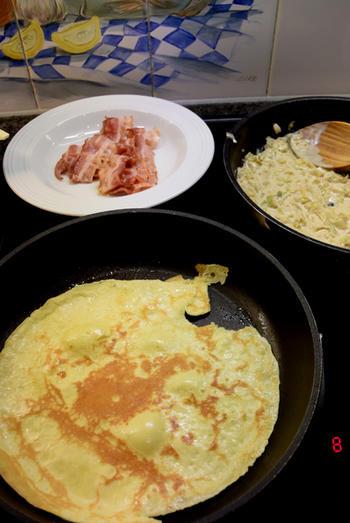 Gevulde pannenkoeken met witloof en ontbijtspek of Vlaamse crespelle 4