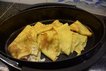 Gevulde pannenkoeken met witloof en ontbijtspek of Vlaamse crespelle 6