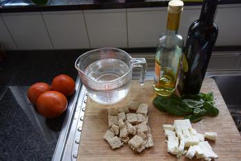 Glaasje tomatencoulis met feta en basilicum 3