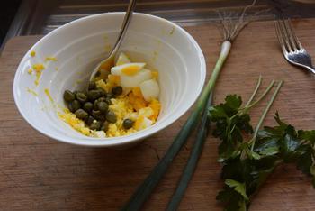 Kabeljauw in sesamkorst met tartaarsaus en broccoli 2