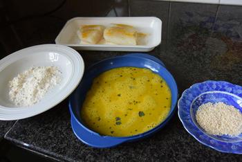 Kabeljauw in sesamkorst met tartaarsaus en broccoli 6