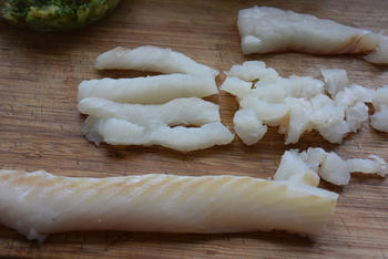 Met vis en courgette gevulde conchiglioni (pastaschelpen) met broccoli-kaassaus 8