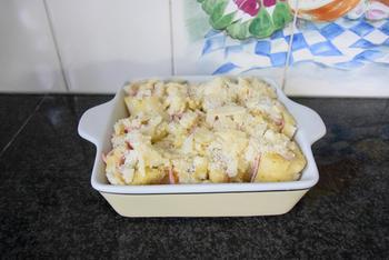 Ovenschotel met gevulde broodrolletjes van asperges en ham 8