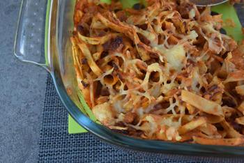 Ovenschotel van pasta, gehakt en tomatensaus 7