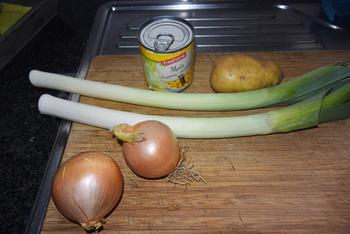 Preisoep met maïs, melk of kokosmelk en curry 2