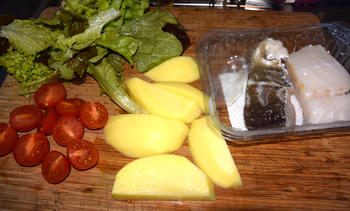 Skrei of kabeljauw met groene saus 4