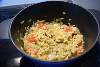 Smeuïge rijst met kipfilet en tomaat 2