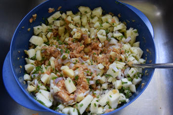 Taart met gehakt, ui en appel 4