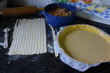Taart met gehakt, ui en appel 5