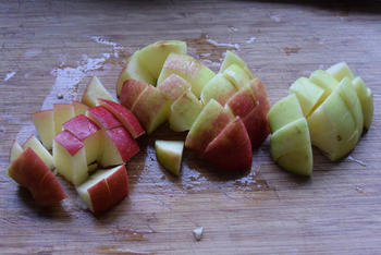 Thermomixrecept: romige soep met spinazie, courgette en appel. 4