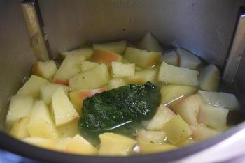 Thermomixrecept: romige soep met spinazie, courgette en appel. 6