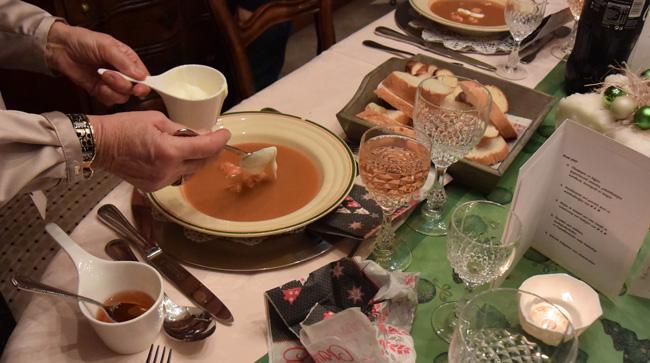 Bisque de homard met stukjes kreeft 1