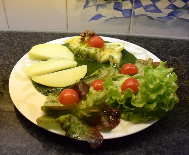 Skrei of kabeljauw met groene saus 1