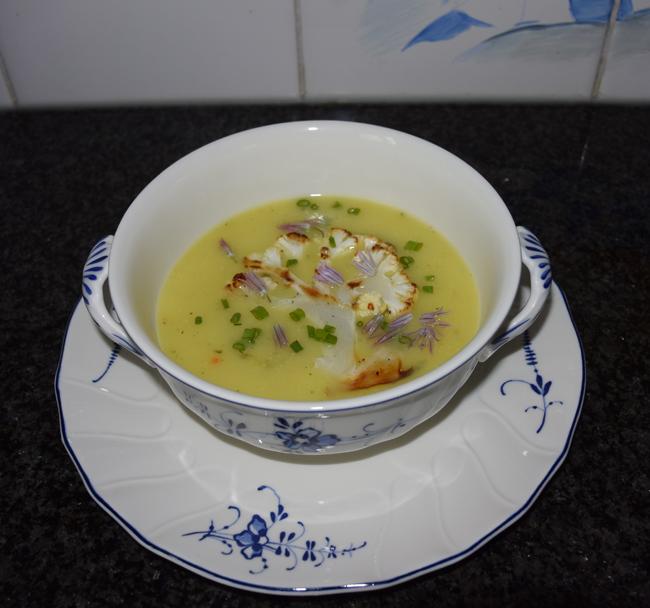 Thermomixrecept: bloemkoolsoep met courgette en mosterd 1