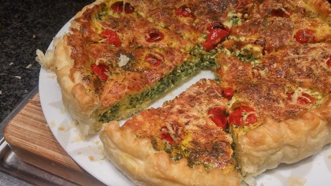 Vegetarische quiche met prei 1