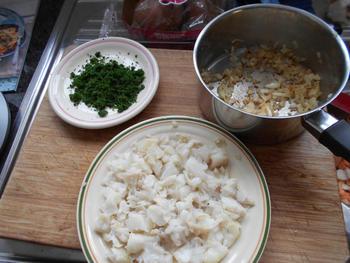 Brandade van zoete aardappel en visfilet 7