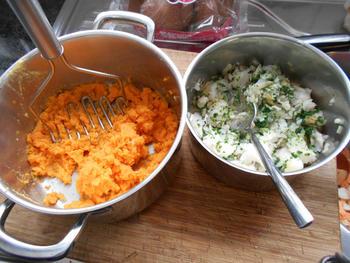 Brandade van zoete aardappel en visfilet 8