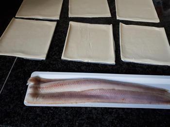 Flapje met spinazie en gerookte vis 2