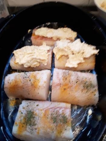 Kabeljauw met kappertjessaus, seizoengroentjes en frietjes 4