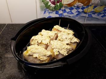Kabeljauw met kappertjessaus, seizoengroentjes en frietjes 5