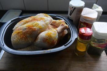 Kip in de oven met gestoofde asperges en aardappelpuree 3