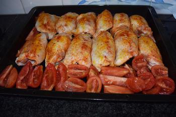 Kippendijen en groentjes uit de oven 5