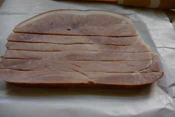 Koude terrine van bladerdeeg, gehakt en ham 5