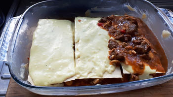 Lasagne met everzwijnragout 9
