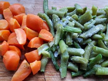 Noedels met groentjes en vongole (venusschelpen) 2