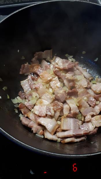 Rijst met spek en pompoen 8