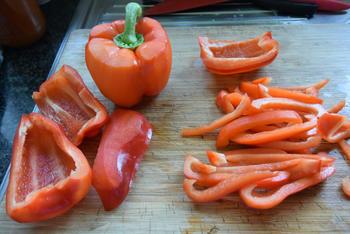 Scampisaté met paprika en paprikasaus 2