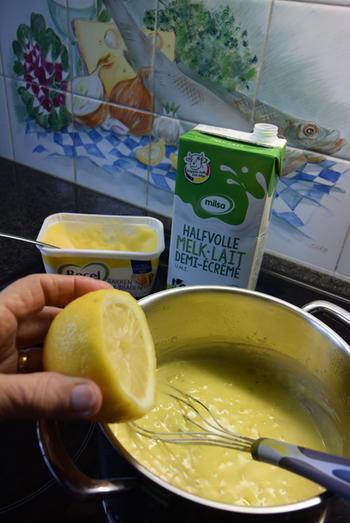 Skrei of kabeljauw met boterboontjes en zure eiersaus 3